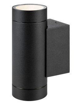 Pipe Vägglampa IP44 svart 16cm