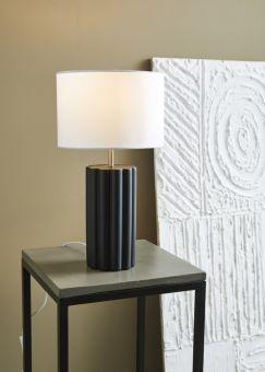Column bordslampa svart/vit 44cm