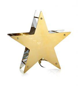 Markslöjd Klang bordsstjärna guld 30cm hos StayHome