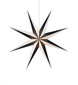 Alva pappersstjärna svart/vit 75cm Markslöjd