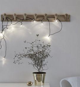 Markslöjd Kula ljusslinga glaskulor 10 LED klar