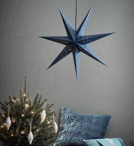 Markslöjd Solvalla pappersstjärna mörkblå 75cm