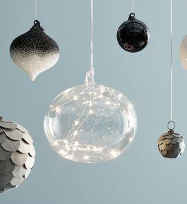 Markslöjd Lina glasboll 18cm med ljusslinga LED