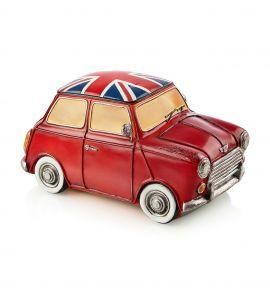 Markslöjd Nostalgi Cooper UK bil med ljus 22cm