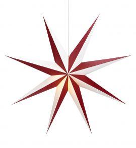 Markslöjd Alva papperstjärna röd/vit 75cm