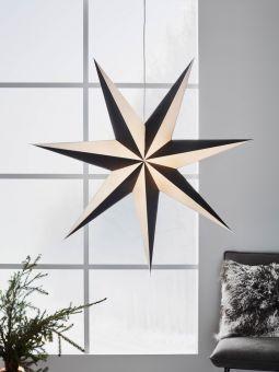 Pappersstjärna Markslöjd Alva svart/vit 1 m