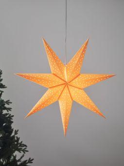 Pappersstjärna Markslöjd Clara orange 75cm