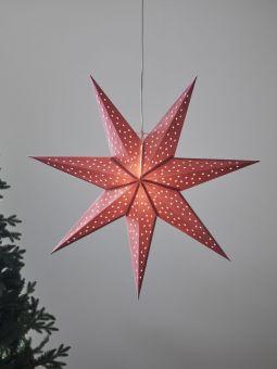 Pappersstjärna Markslöjd Clara rosa 75cm