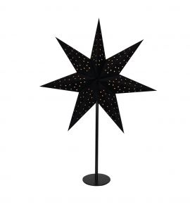 Pappersstjärna på fot Markslöjd Clara svart 65cm
