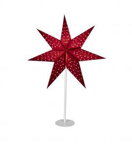 Pappersstjärna på fot Markslöjd Clara röd 65cm