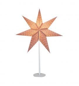 Pappersstjärna på fot Markslöjd Clara rosa 65cm
