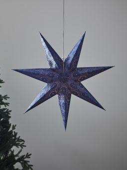 Pappersstjärna Markslöjd Isadora blå 75cm