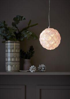 Pearl Glasdekoration rosa 15cm
