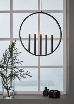Surround Fönsterdekoration svart 47cm
