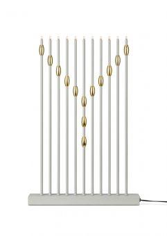 Necklace Elljusstake vit/guld 45cm