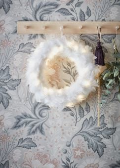 Feather Krans vit 35cm