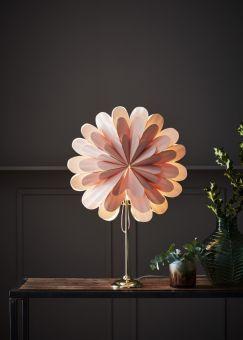 Marigold Bordsstjärna rosa/mässing 45cm