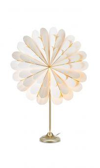 Marigold Bordsstjärna vit/mässing 45cm