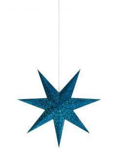 Velours Pappersstjärna blå 45cm