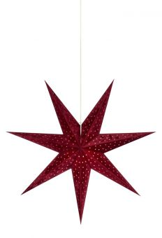 Velours Pappersstjärna röd 75cm