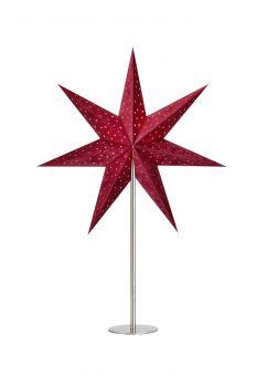 Velours Bordsstjärna röd 65cm