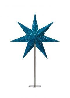 Velours Bordsstjärna blå 65cm