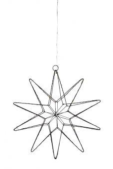Gleam Adventsstjärna svart 33cm