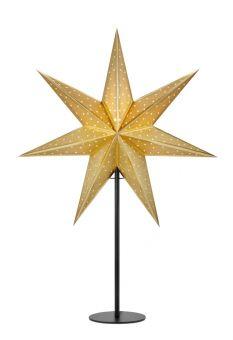 Glitter Bordsstjärna guld/svart 65cm