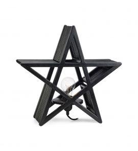Bamboo Bordsstjärna svart 40cm