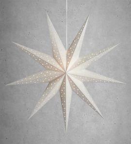 Markslöjd Solvalla pappersstjärna silver 100cm
