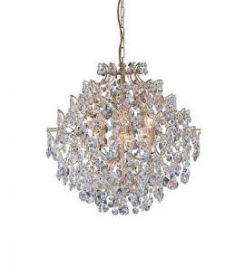 Markslöjd Rosendal taklampa kristall guld