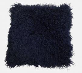 Mogihome Kuddfodral Tibet fårskinn 45x45cm mörkblå