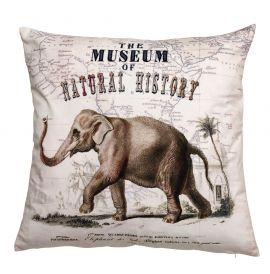 Mogihome Elephas Kuddfodral Sammet offwhite 60x60cm