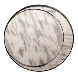 Glasskivor Antik spegel 2-del till satsbord