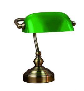 Bankers Skrivbordslampa oxid/grön 25cm Markslöjd