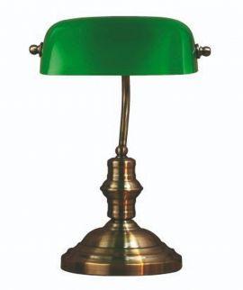 Bankers Skrivbordslampa oxid/grön 42cm Markslöjd