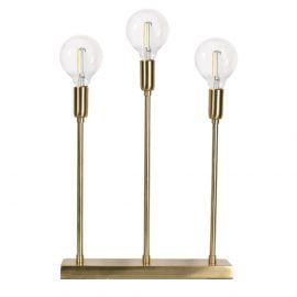 Soft Christmas Metalljusstake guld3 lampor 40cm