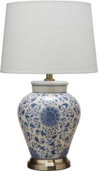 Fang Hong Bordslampa porslin vit/blå 58cm PR Home