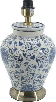 Fang Hong Lampfot porslin vit/blå 38cm PR Home