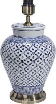 Fang Hong Lampfot porslin blå 38cm PR Home