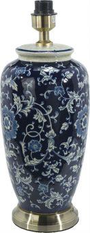 Li Jing Lampfot porslin mörkblå 49cm PR Home