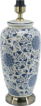 Li Jing Lampfot porslin vit/blå 49cm PR Home