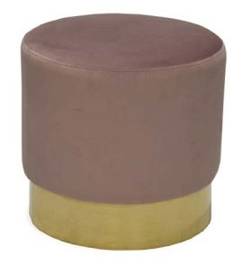 Sammetspall Bling rosa/mässing 42cm RGE