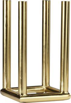 Viking Square ljusstake guld 4 lampor 37cm