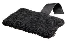 Nackkudde i fårskinn 31x20cm Black