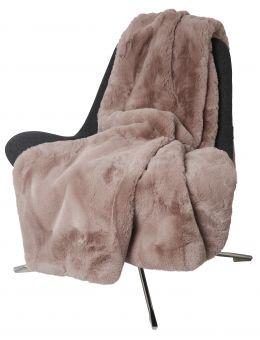Fluffy Pläd fuskpäls rosa 120x180cm Skinnwille