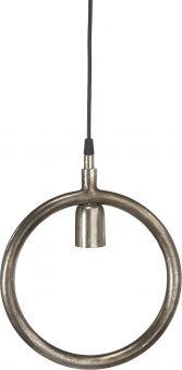 Circle fönsterlampa i metall. Rund industrilampa i råsilver metall för dig som vill skapa industrikänsla i hemmet.
