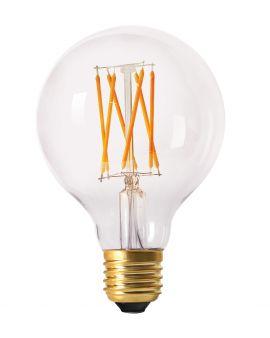 LED-lampa E27 elect filament globe 2300K 8cm 4W