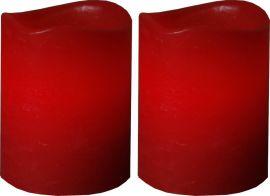 May Blockljus 2-p röd 6cm