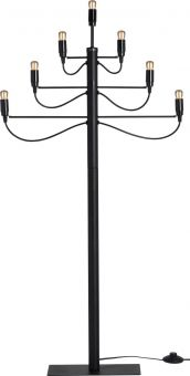 Adventsljusstake Milano golv svart 120cm